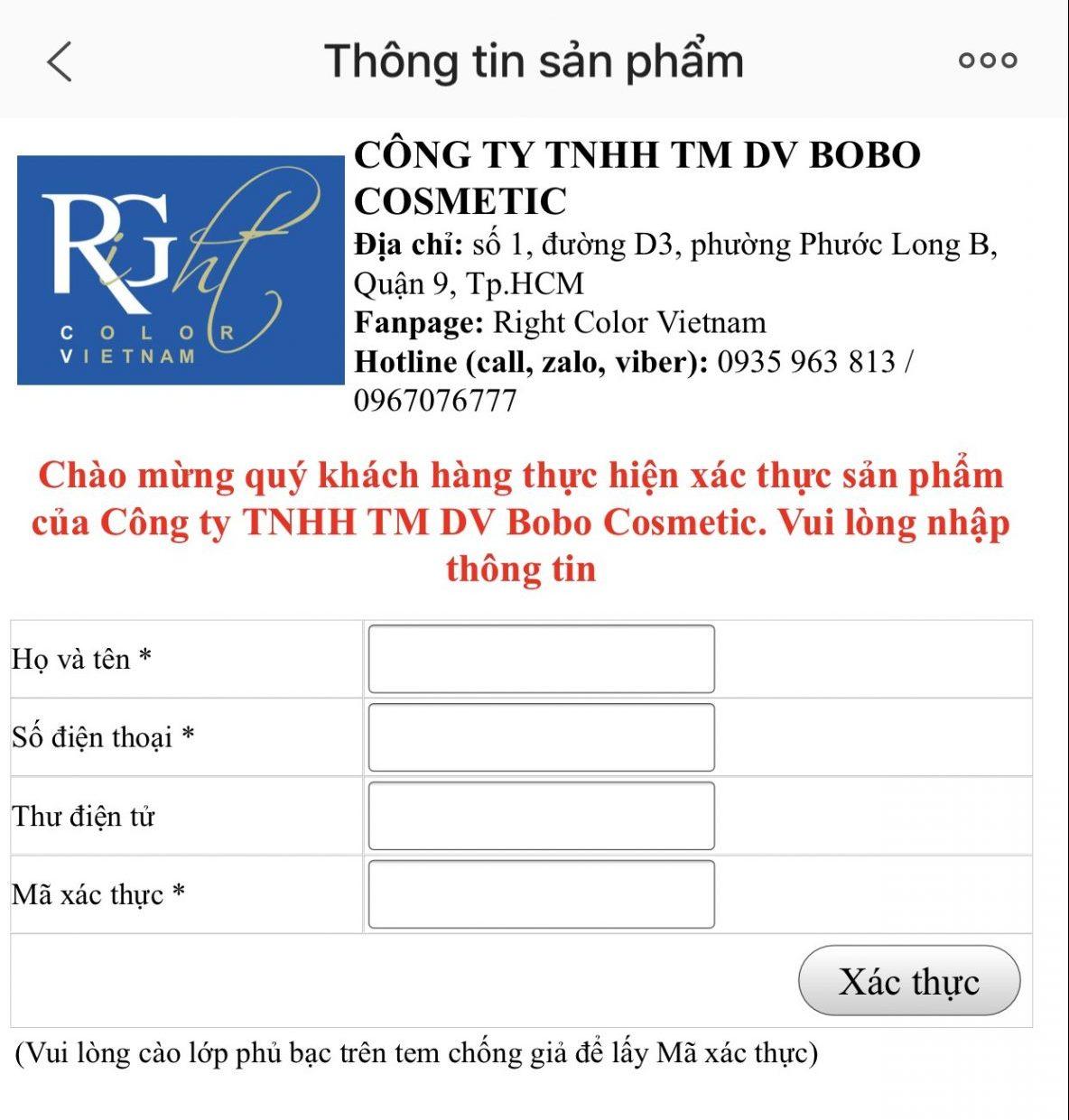 Hướng dẫn cách phân biệt thật - giả các sản phẩm của Bobo Cosmetic