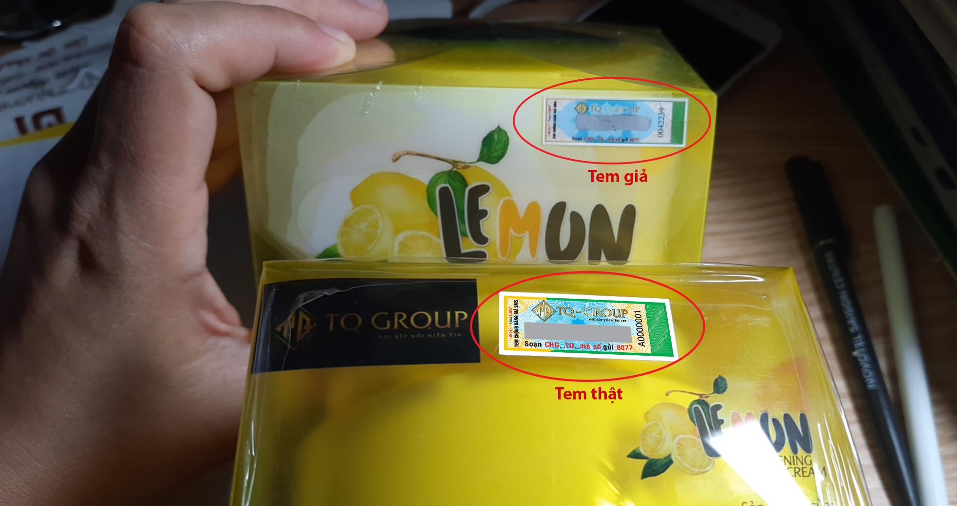 Hướng dẫn cách phân biệt hàng chính hãng sản phẩm Kem Body Chanh Lemon bằng tem chống hàng giả 1