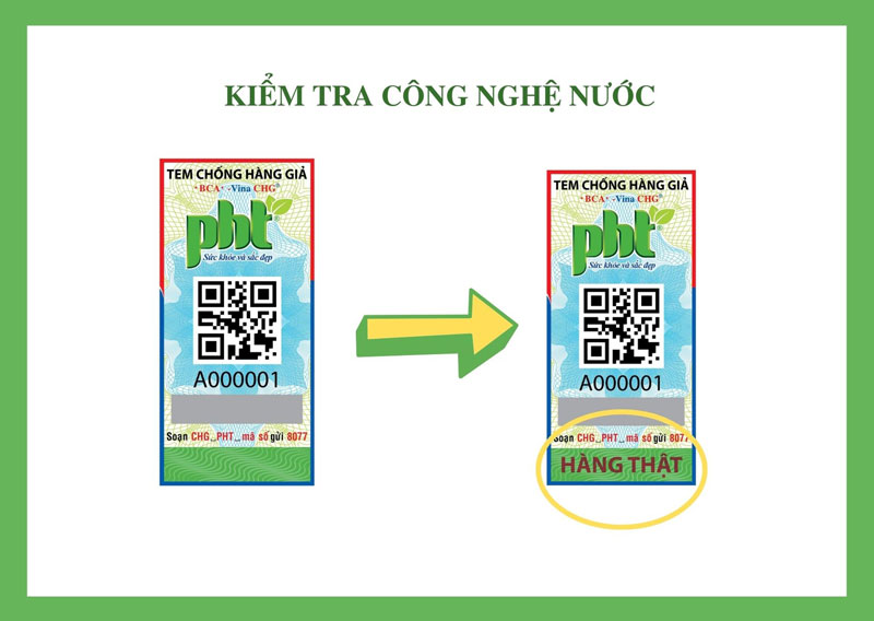 Kiểm tra sản phẩm Phú Hồng Thành bằng tem chống hàng giả