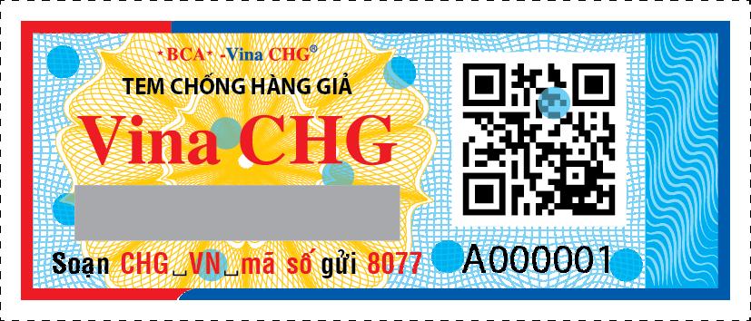 Mẫu tem chống hàng giả băng vệ sinh do Vina CHG cung cấp
