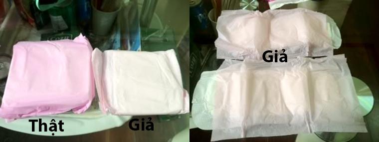 phân biệt băng vệ sinh thật giả, tem chống giả BVS