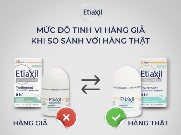 Cách kiểm tra sản phẩm khử mùi Etiaxil thật giả bằng tem Qr code